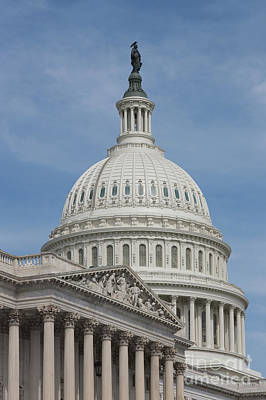 Capitol Building Photograph - Us Capitol Building I by Clarence Holmes