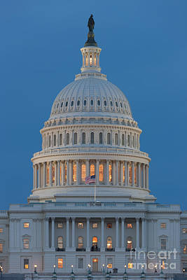Photograph - Us Capitol Building IIi by Clarence Holmes