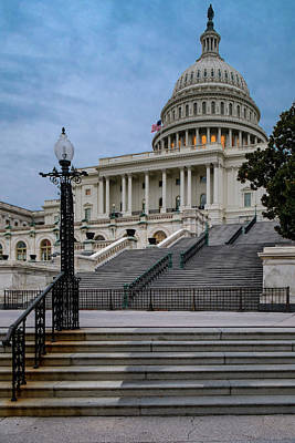 Art Print featuring the photograph Us Capitol Building Twilight by Susan Candelario