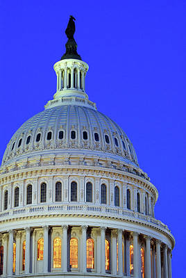 Photograph - Us Capitol Dome At Dusk by James Kirkikis