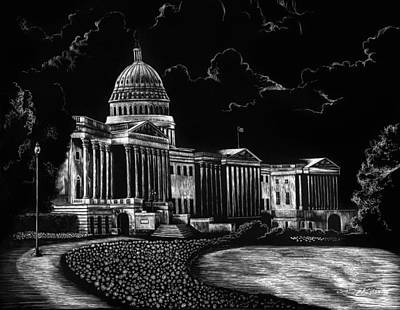 Democrat Drawing - U.s. Capitol by Lindsey Jaeger