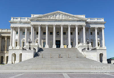 Photograph - Us Capitol North Wing IIi by Clarence Holmes