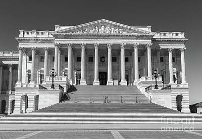Photograph - Us Capitol North Wing Iv by Clarence Holmes