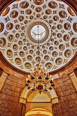Art Print featuring the photograph Us Capitol Rotunda Washington Dc by Susan Candelario