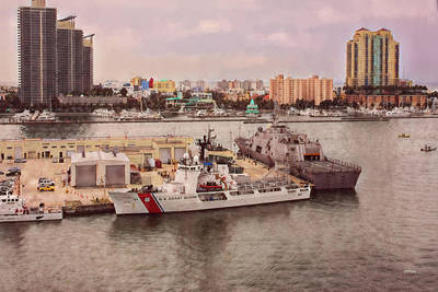 Photograph - U.s. Coast Guard At Miami - Abstractive by John M Bailey