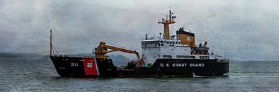 Photograph - Us Coast Guard Buoy Retrieval by Mike Braun