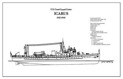 U.s. Coast Guard Cutter Icarus Art Print by Jose Elias - Sofia Pereira