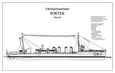 Coastguard Digital Art - U.s. Coast Guard Cutter Porter by Jose Elias - Sofia Pereira