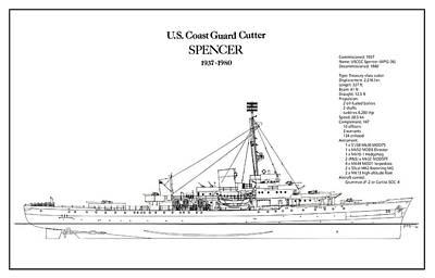 Coastguard Digital Art - U.s. Coast Guard Cutter Spencer by Jose Elias - Sofia Pereira