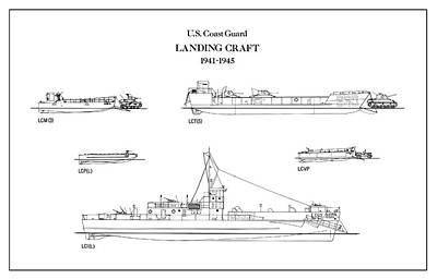 U.s. Coast Guard Landing Craft Art Print by Jose Elias - Sofia Pereira