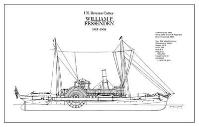 U.s. Coast Guard Revenue Cutter William P. Fessenden Art Print