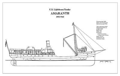 U.s. Coast Guard Tender Amaranth Art Print by Jose Elias - Sofia Pereira