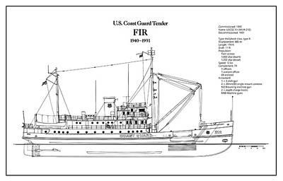 Coastguard Digital Art - U.s. Coast Guard Tender Fir by Jose Elias - Sofia Pereira