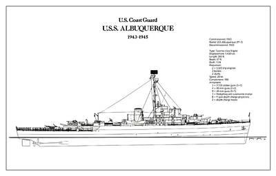 Ocean Digital Art - U.s. Coast Guard U.s.s. Albuquerque by Jose Elias - Sofia Pereira