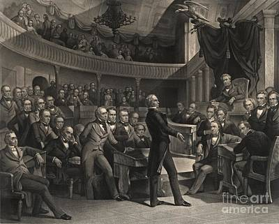 Us Congress Print by Celestial Images