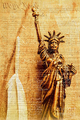 Parchment Photograph - Us Constitution by Jorgo Photography - Wall Art Gallery