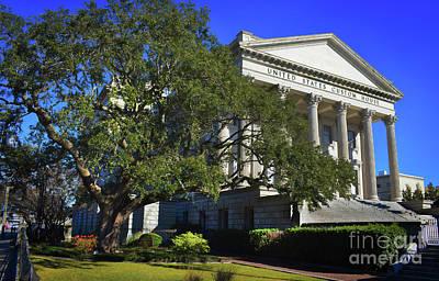 Us Customs House Charleston Art Print by Skip Willits
