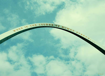 Photograph - U.s. Declaration Of Independence Arch  by Tony Grider