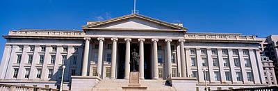 U.s. Department Of Treasury With Statue Art Print