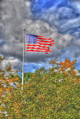 Photograph - Us Flag 8091 by Guy Whiteley