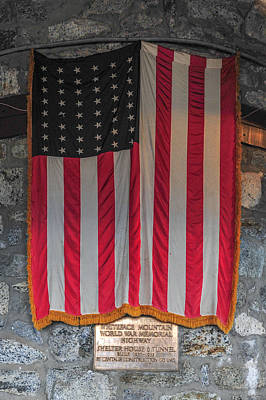 Photograph - Us Flag At Whiteface Mountain Ny by Terry DeLuco