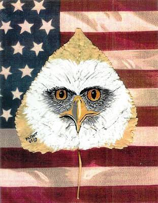 Painting - U.s. Flag Eagle by Ralph Root