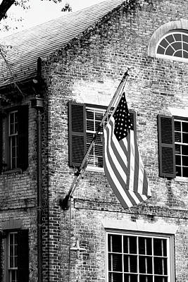 Photograph - Us Flag In Colonial Williamsbug by Emanuel Tanjala