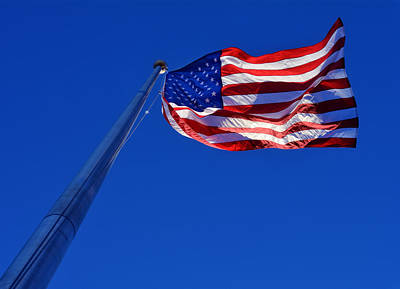 Stars Photograph - U.s. Flag In Sunlight by Greg Mimbs