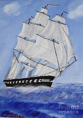 Painting - Us Frigate Constitution by Bill Hubbard
