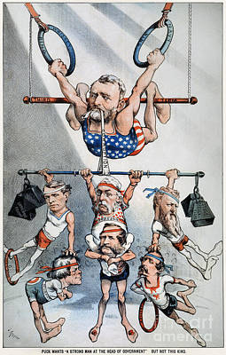 Photograph - U.s. Grant Cartoon, 1880 by Granger