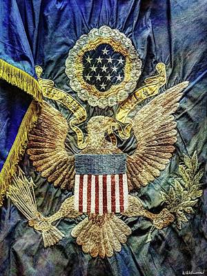 Photograph - Us Infantry Regimental Colors Of The Great War by Weston Westmoreland