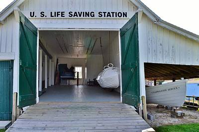 Photograph - Us Lifesaving Station Interior by Kim Bemis