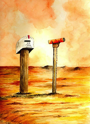 Mail Box Painting - U.s. Mail by Michael Vigliotti