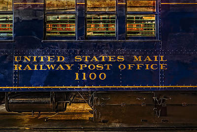 Us Mail Railway Post Office Train Art Print by Susan Candelario