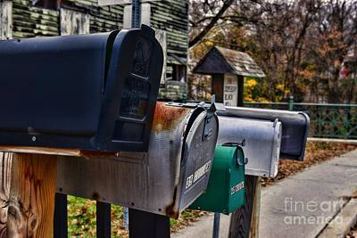 Us Mail Photograph - Us Mailboxes by Paul Ward