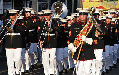Photograph - Us Marine Corp Band by Mike Martin