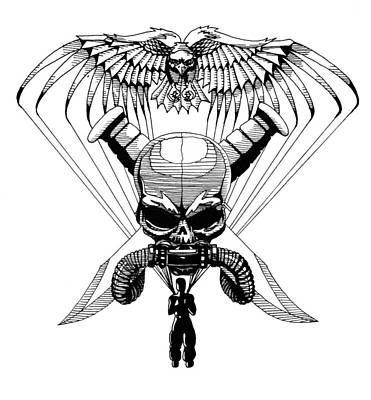 Freedom Fighter Drawing - Us Marine Corp Recon by Scarlett Royal
