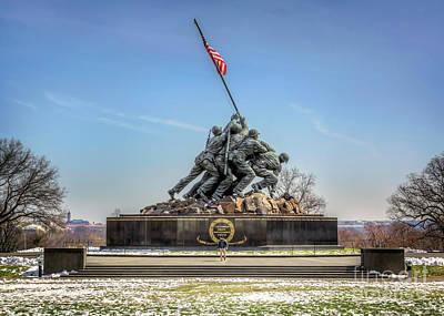 Photograph - Us Marine Corps War Memorial by Karen Jorstad
