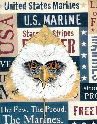 Painting - U.s. Marine Eagle by Ralph Root