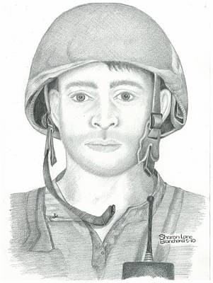 U.s. Marine Sgt. Afghanistan Original by Sharon Blanchard