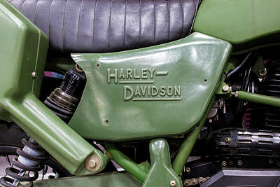 Photograph - Us Military Harley by Rospotte Photography