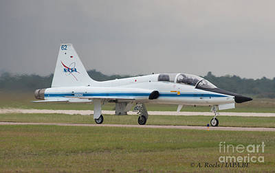 Photograph - Us Nasa  F-5 At Houston Afb by Antoine Roels