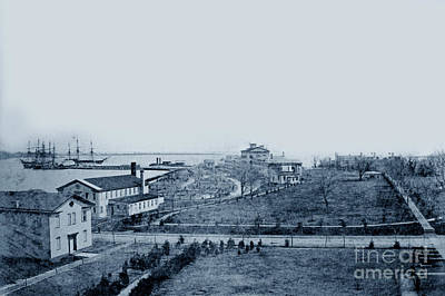 Photograph - U S Naval Academy Waterfront In The Late 1860s  by California Views Mr Pat Hathaway Archives