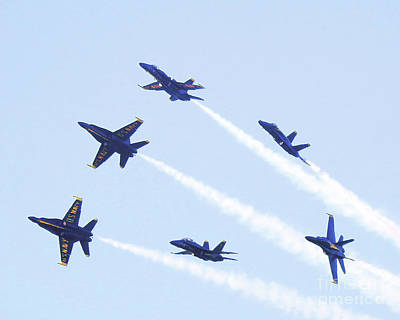 Photograph - Us Navy Blue Angel Aerobatics by Scott Cameron