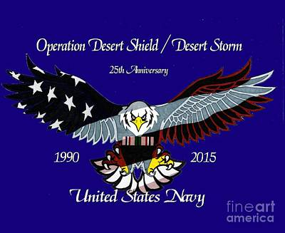 Us Navy Desert Storm Art Print by Bill Richards