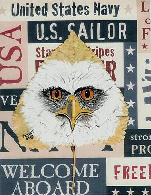 Painting - U.s. Navy Eagle by Ralph Root