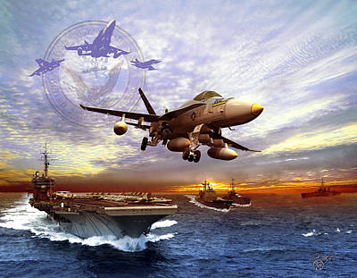 F-18 Digital Art - U.s. Navy by Kurt Miller