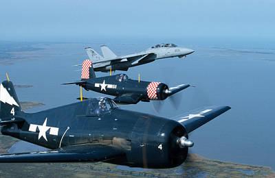 Photograph - Us Navy Lagacy Flight  by John Clark