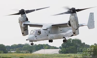 Photograph - Us Navy V 22 Osprey -  Oshkosh 2008 by Antoine Roels