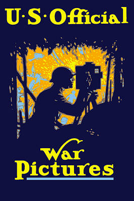 Americana Painting - U.s. Official War Pictures by War Is Hell Store